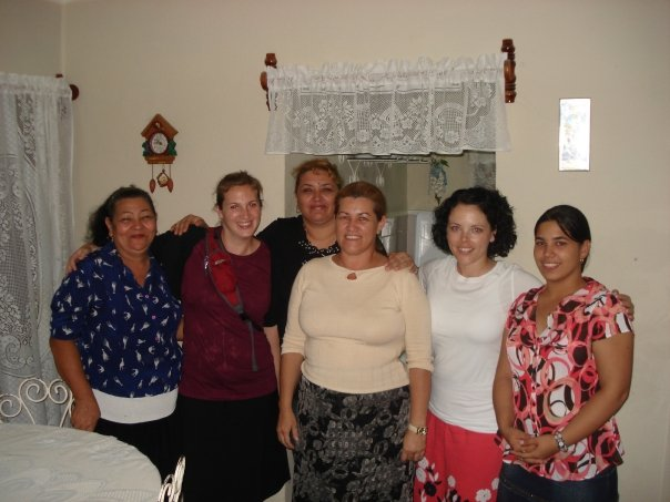 Some house church ladies with Jamie and I in Cuba
